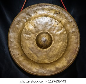 Gold plated Asian gong