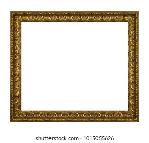 gold plated empty picture frame for putting your pictures in.