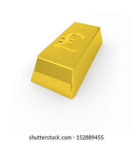 gold and pound symbol