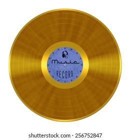 Gold Record, vinyl, shellac, LP