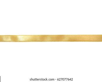 Gold ribbon border isolated on white background
