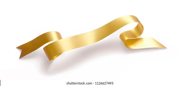 GOLD RIBBON ISOLATED