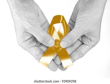 Gold Ribbon a Symbol of Childhood
