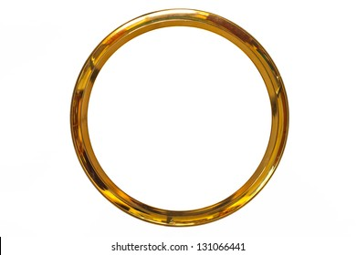 gold ring frame on isolate
