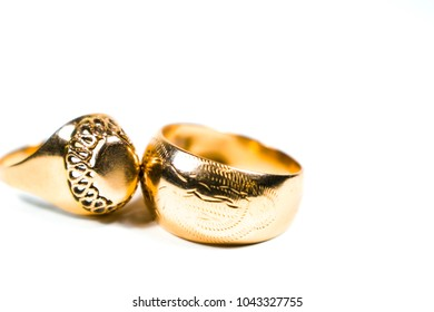 Gold rings 50 years of the last century