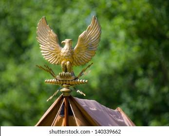 Gold roman eagle