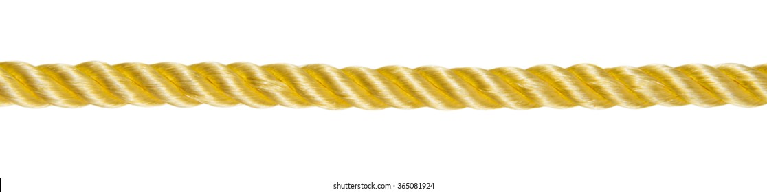 Gold rope isolated on white background.