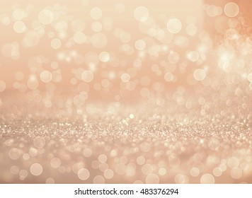 gold and silver abstract glowing Christmas background