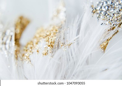 Gold and SIlver Feathers