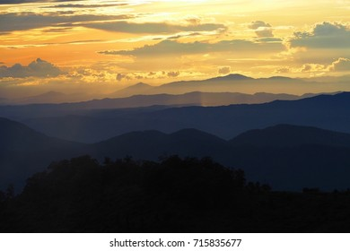 Gold Sky on the Mountain