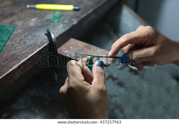 Gold Smith Making Ring S Wax Stock Photo (Edit Now) 437257963