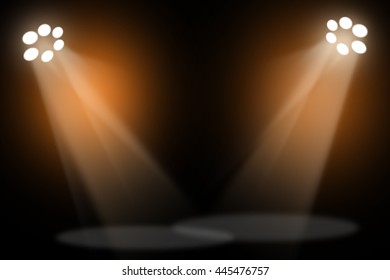 Gold stage light background