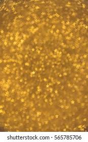 Gold Star bokeh background. Modern flat design for card or website.