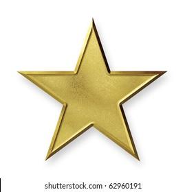 Gold star with texture mapping