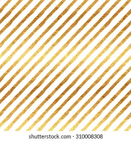 Gold Stripes Faux Foil Metallic White Background Striped Pattern Texture