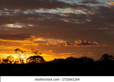 Gold Sunset in Northern Territory Australia