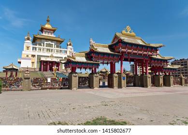 The Gold Temple of Buddha Shakyamuni. Elista, Kalmykia