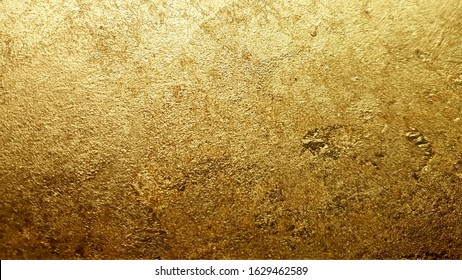 Gold texture background, gold gilding wallpaper