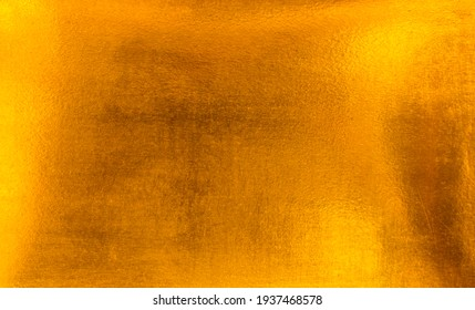 Gold texture background Retro golden shiny wall surface