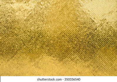 gold texture glitter background. Light realistic, shiny, metallic empty golden gradient template. Abstract metal decoration.