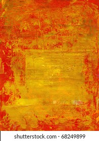 gold texture with the red cracked varnish surface
