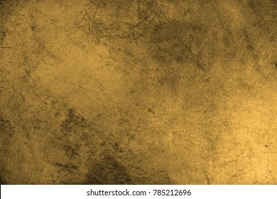 Gold Texture. Scratched metal.