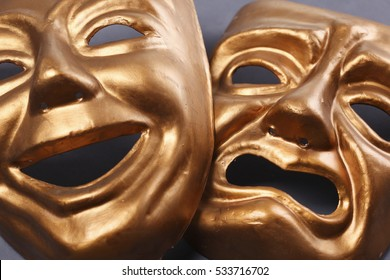 Gold theater mask