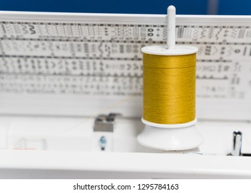 gold thread and sewing machine