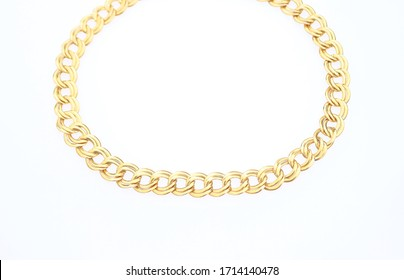 Gold tone chain necklace costume jewelry accessory