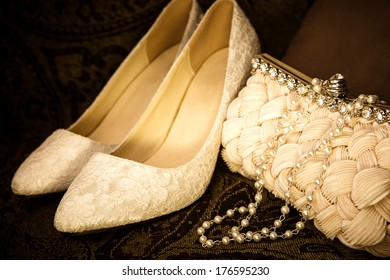 Gold toned luxury fashion items
