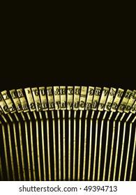 gold typewriting