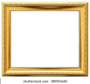 Gold vintage frame isolated on white. Gold frame Louis abstract design.