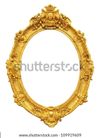 b28ba482d22 Gold Vintage Frame Isolated On White Stock Photo (Edit Now ...