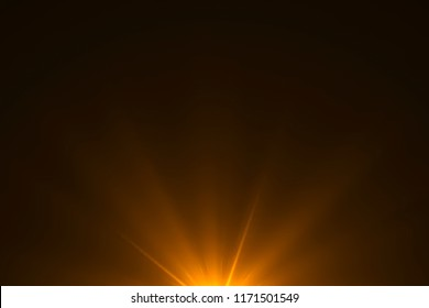 gold warm color bright lens flare rays light flashes leak movement for transitions on black background,movie titles and overlaying