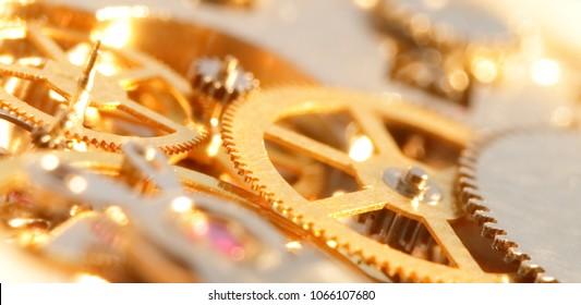 gold watch mechanism.