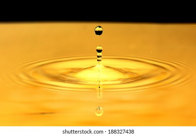 Gold water drop