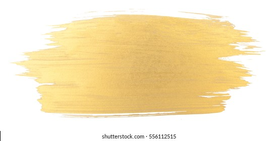 Gold watercolor texture paint stain   shining brush stroke