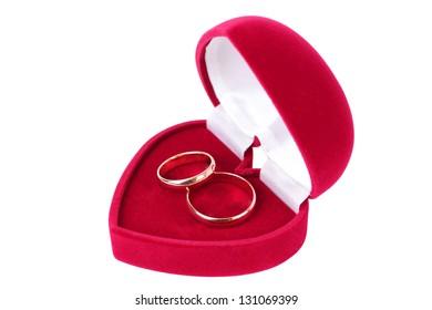 Gold wedding ring.