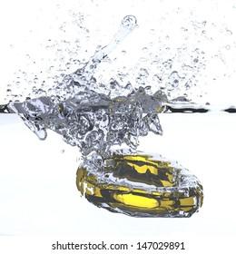 Gold Wedding Ring - Splash
