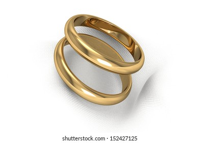 gold wedding rings (high resolution 3D image)