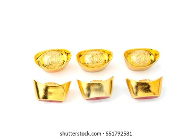 gold in white background.Chinese new year decoration.