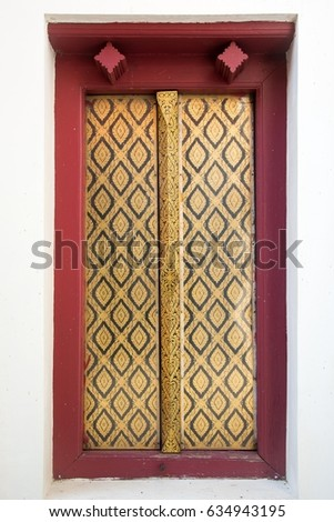 7c8ce7a2b1e Gold window Red frame form Wat Phra Si Rattana Mahathat (Public places) in  thailand