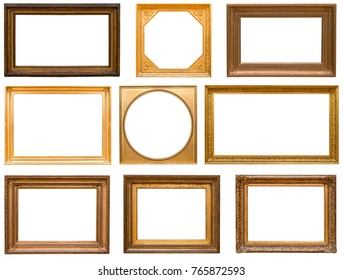 gold wood frame set