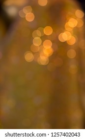 Gold yellow bokeh abstract background. Christmas and new year celebration concept background.