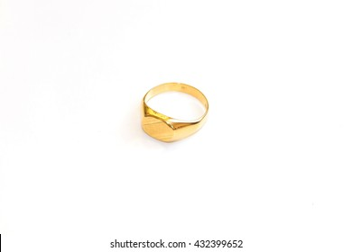 Gold yellow finger ring