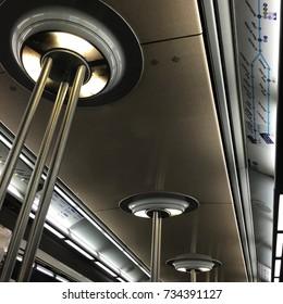 golded metro ceiling