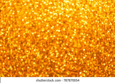 Golden Abstract Background with Bright Bokeh Lights