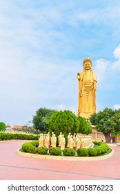 Golden Amitabha Buddha Statue at Fo Guang Shan Monastery in Kaohsiung