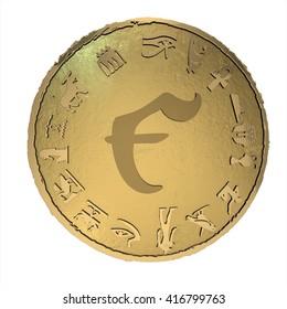 golden ancient egypt money. 3D render, 3D illustration.