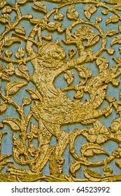 Golden Angle's Relief on the Wall (Suan Pakkard Palace), Thailand